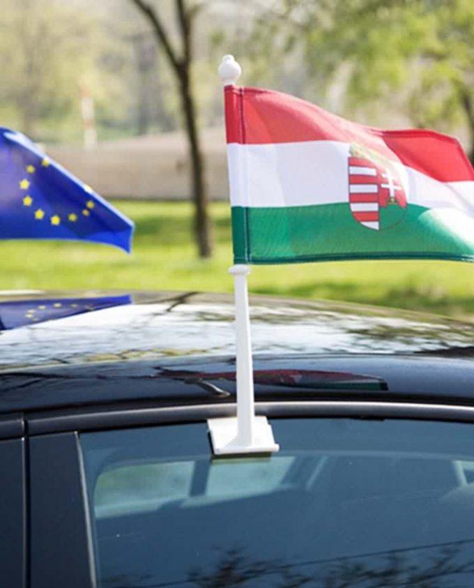 car window flag