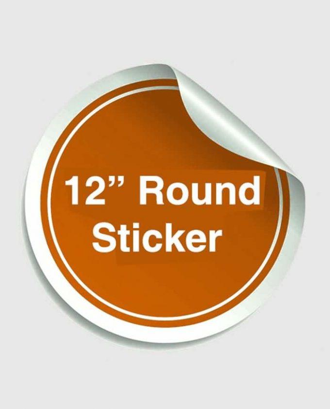 12 Inches Round Sticker