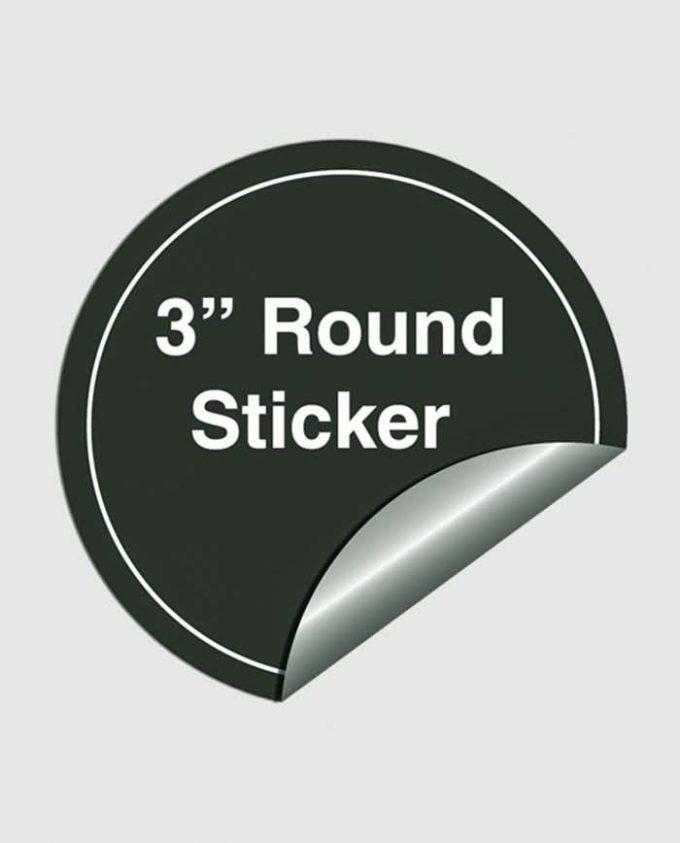 3 Inches Round Sticker