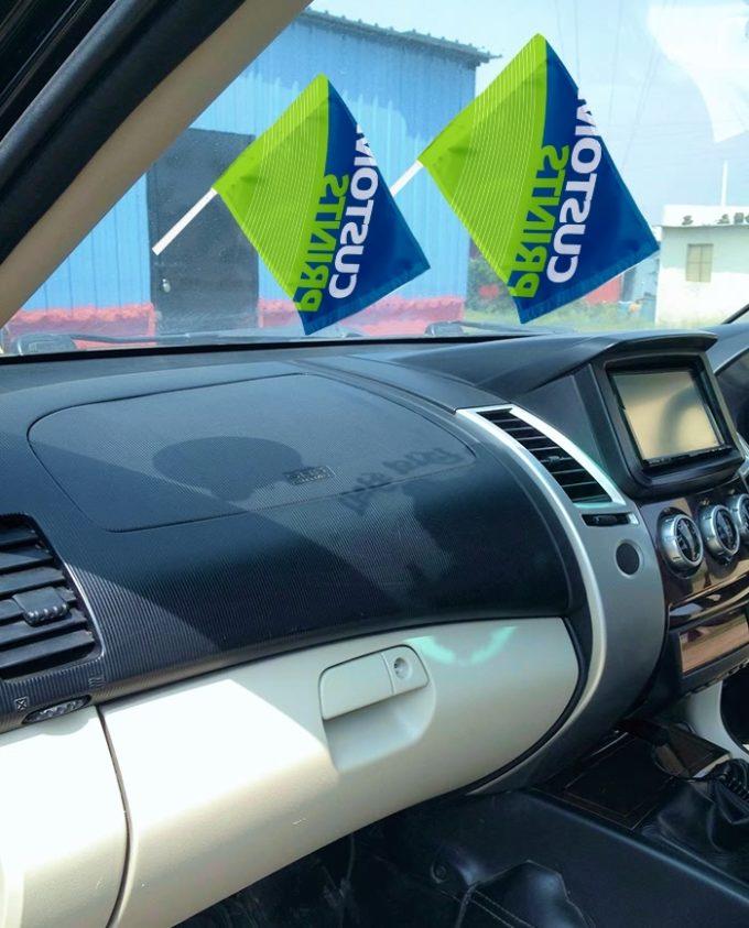windshield flag